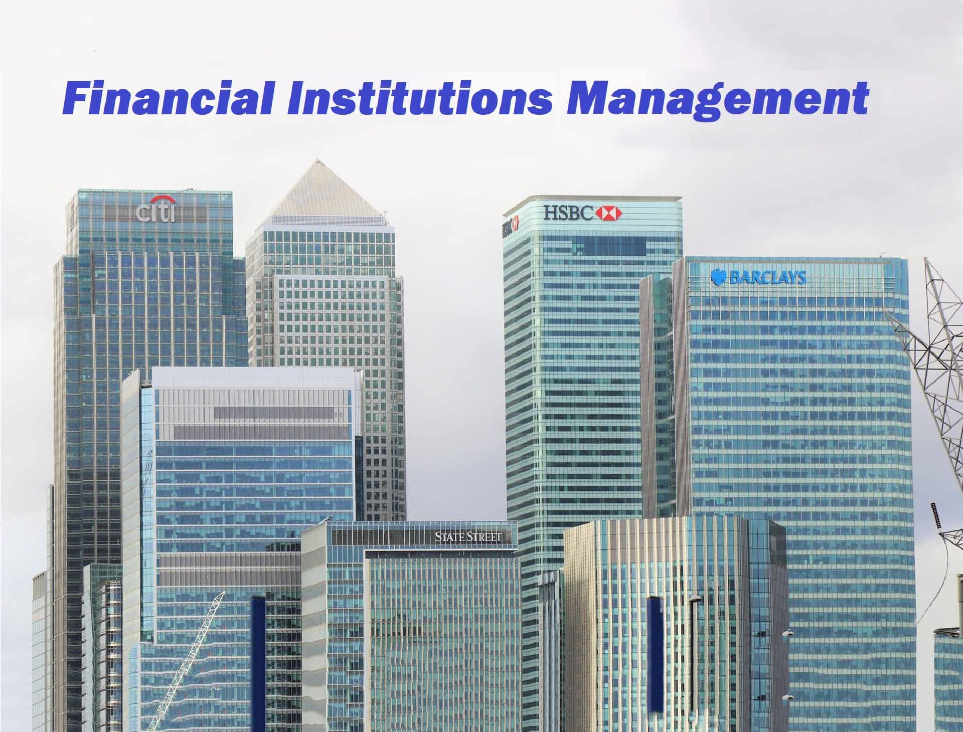 金融機構管理Financial Institutions Management
